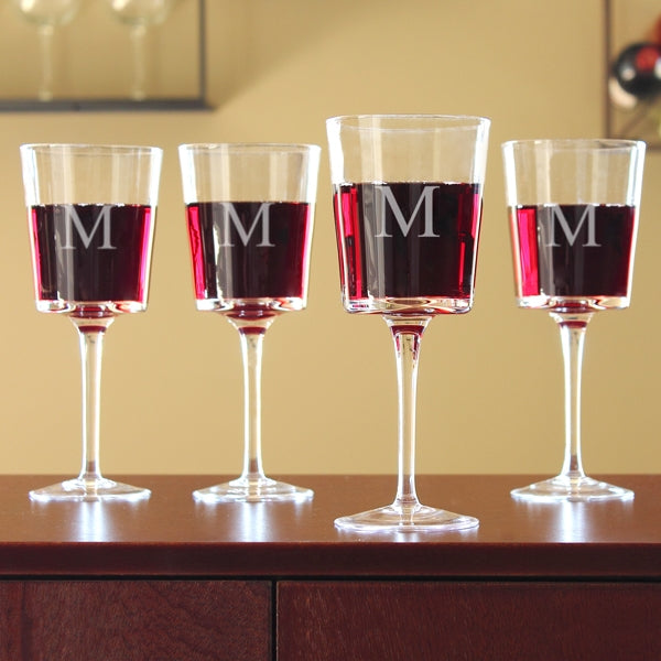 Contemporary Wine Glasses (Set of 4)