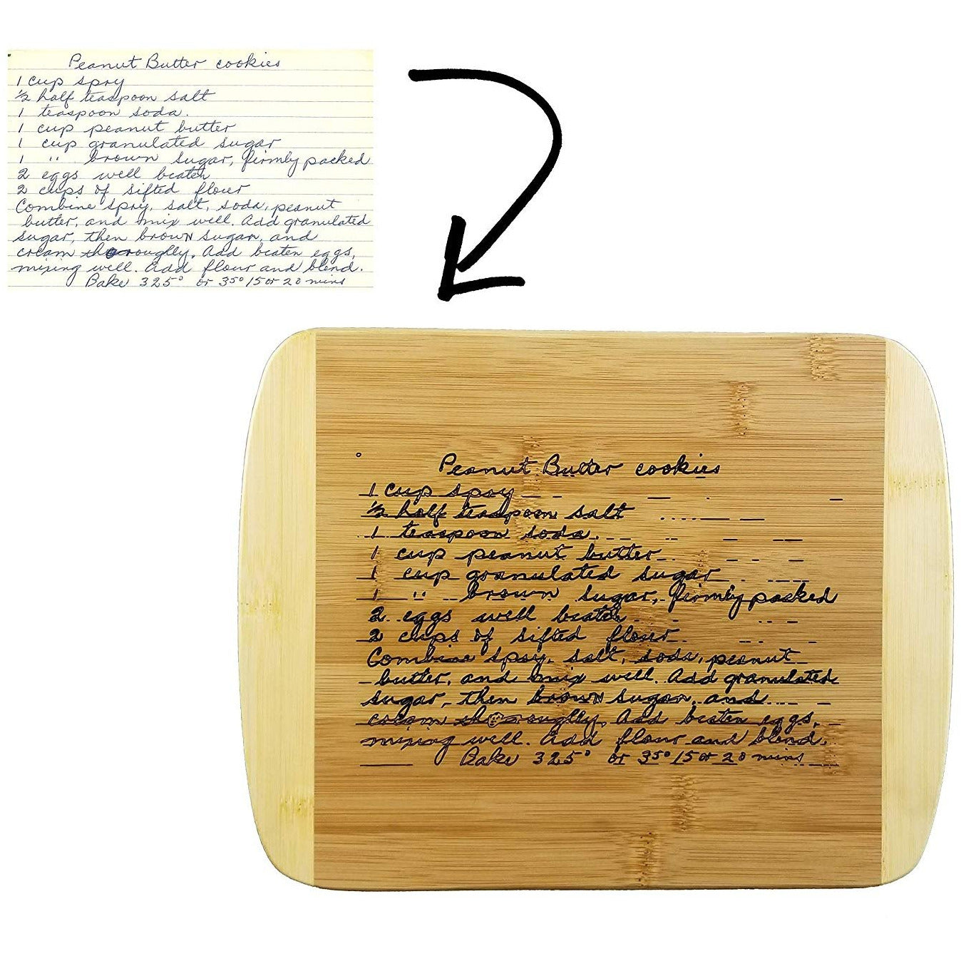 Custom Couples Gift Bamboo Wood Cutting Board with Free Personalization JD02
