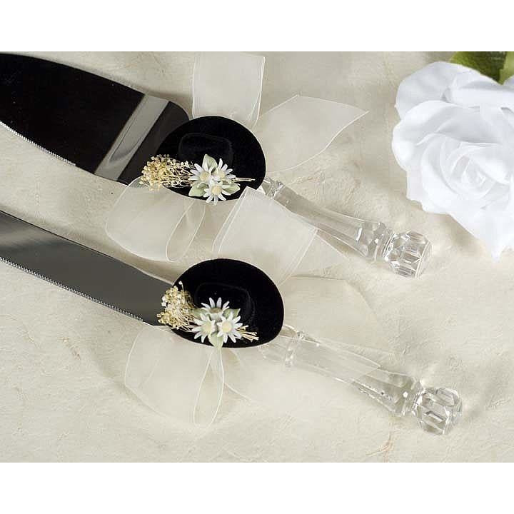 Cowboy Hat Western Wedding Cake Server Set