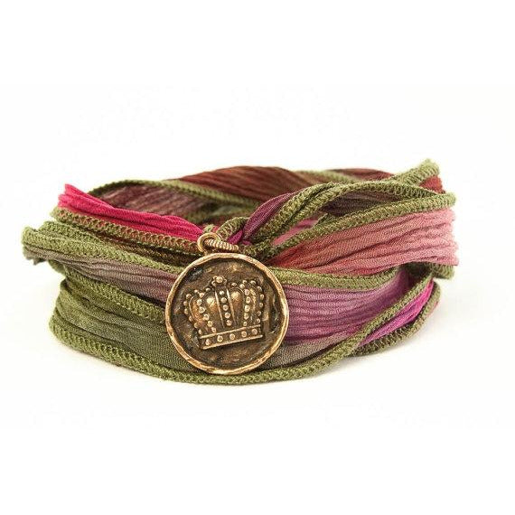 Crown Jewelry, Silk Wrap Bracelet