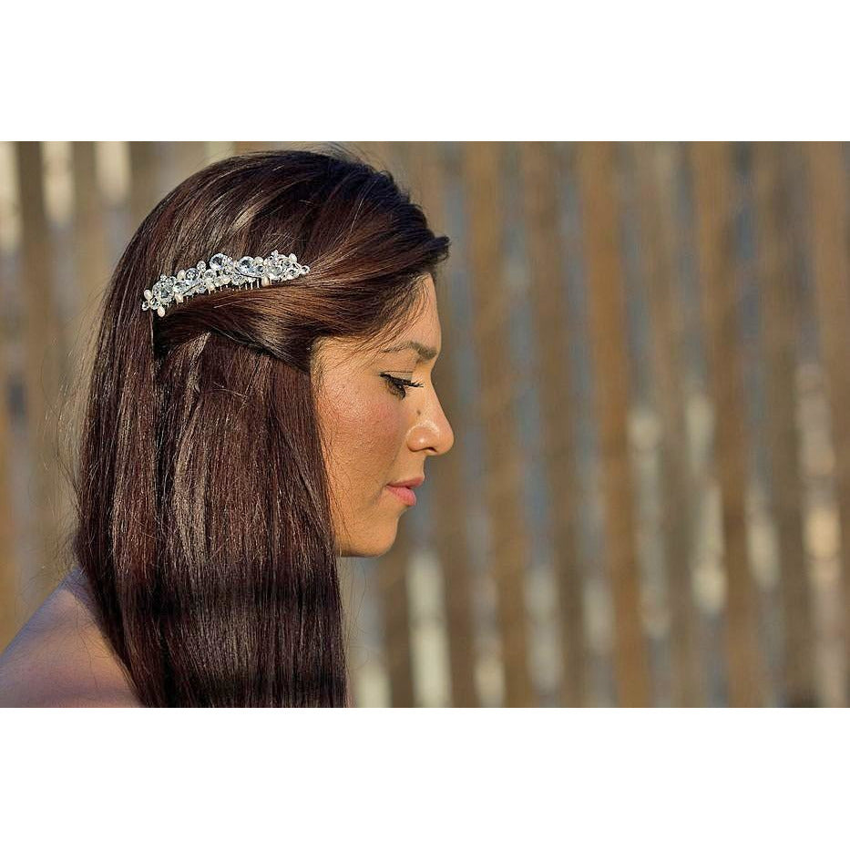 Crystal Floret Wedding Hair Comb