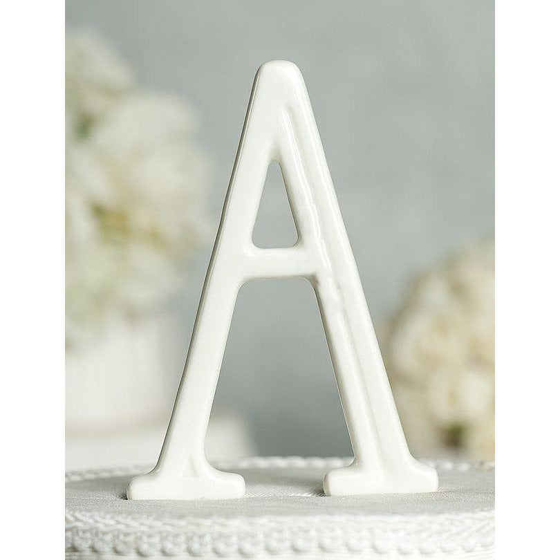 Porcelain Monogram Cake Topper