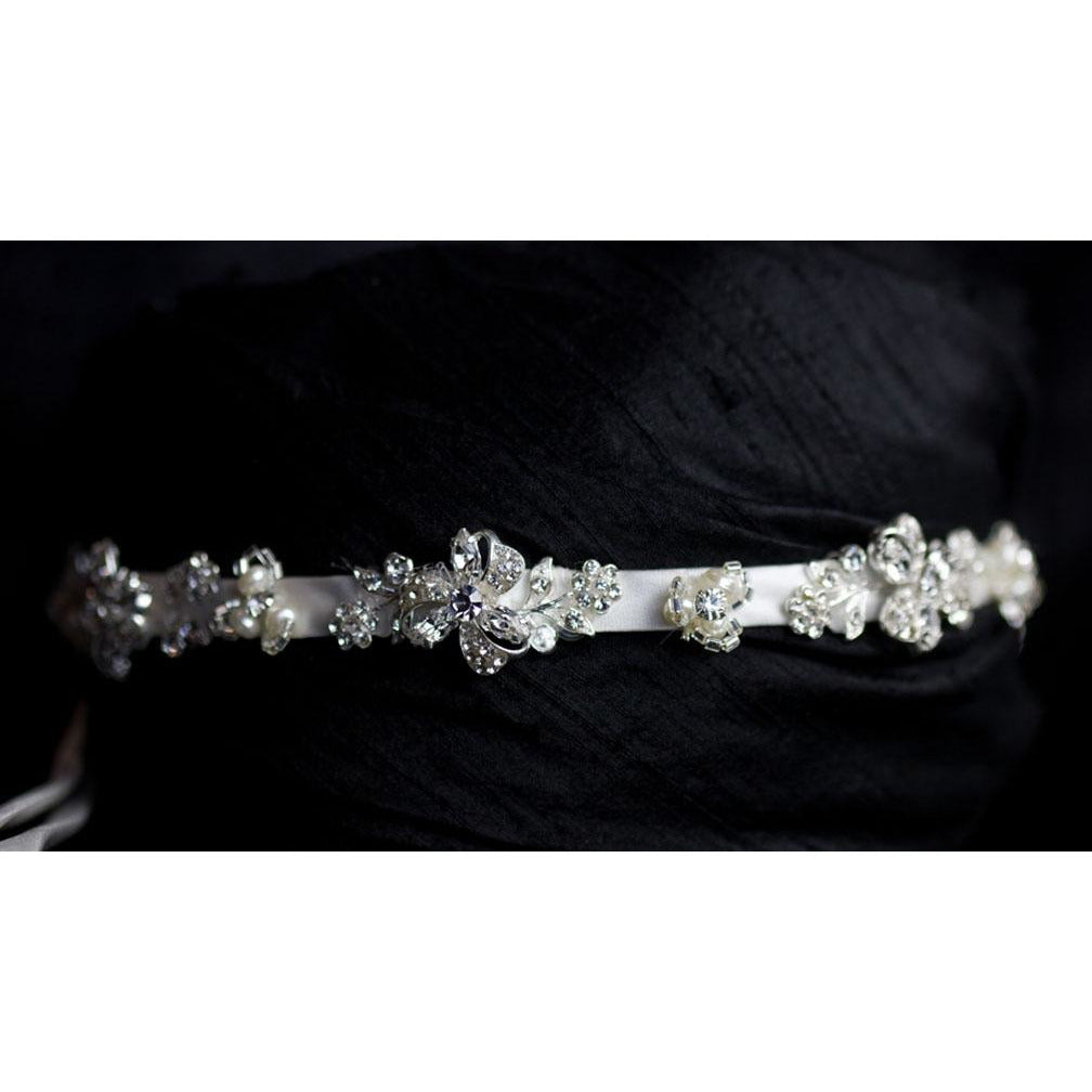 Crystal Garden Ribbon Headband