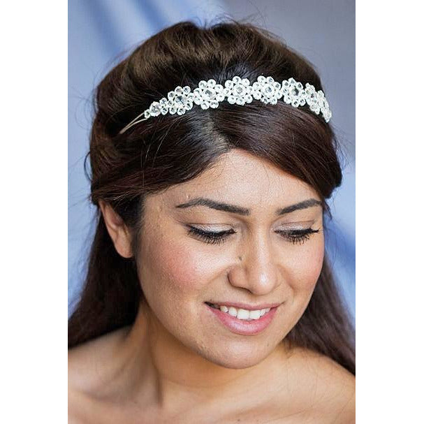 Crystal Glam Flower Headband