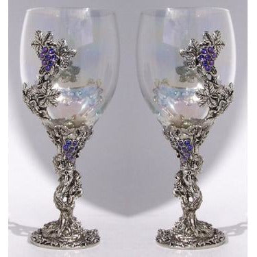 Crystal Vine Toasting Glasses Set (2 Glasses)