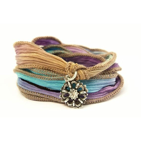 Crystal Wildflower Jewelry Wrap Bracelet