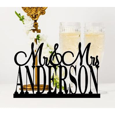 Custom Table Sign with Your Last Name