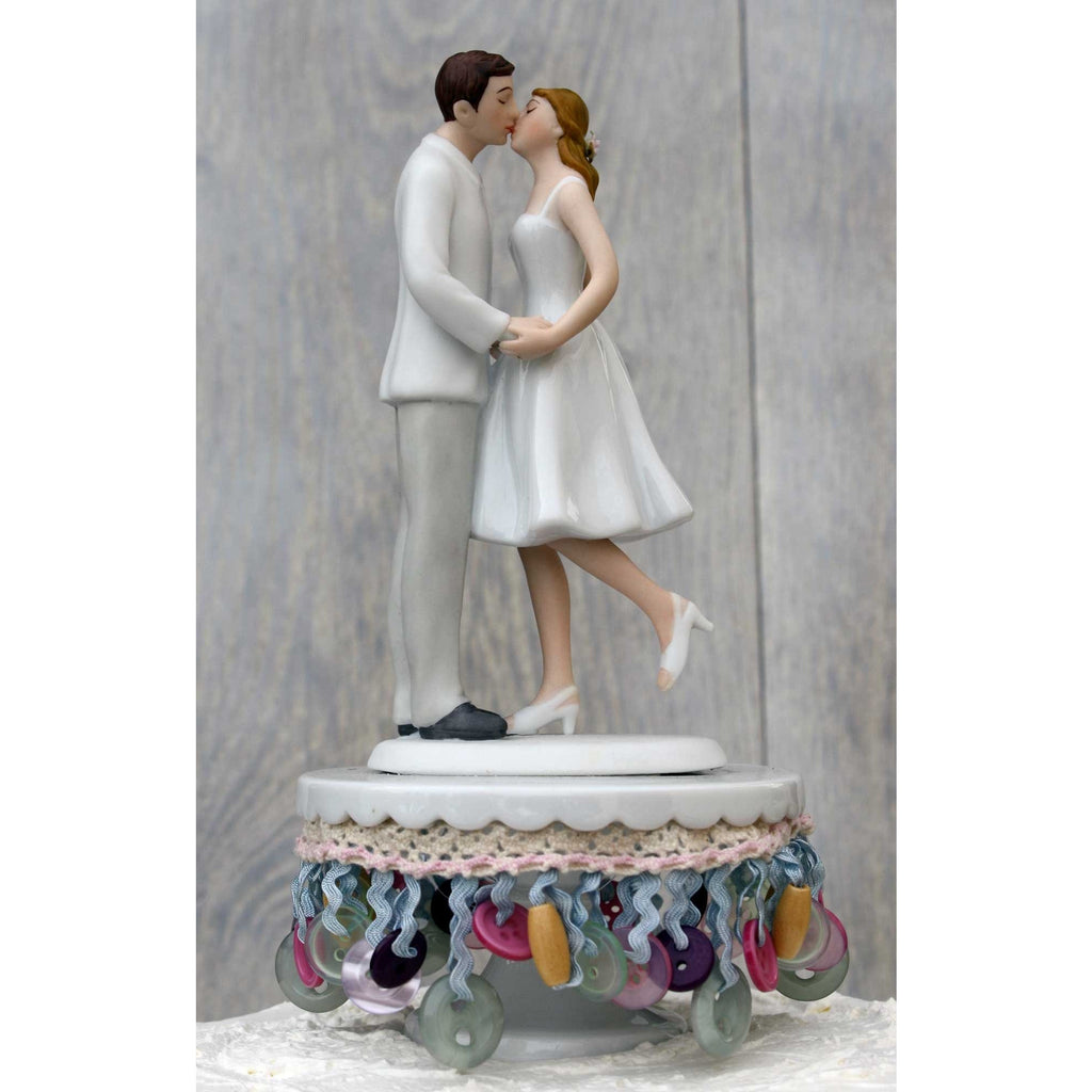 Crafters Bride and Groom Wedding Cake Topper