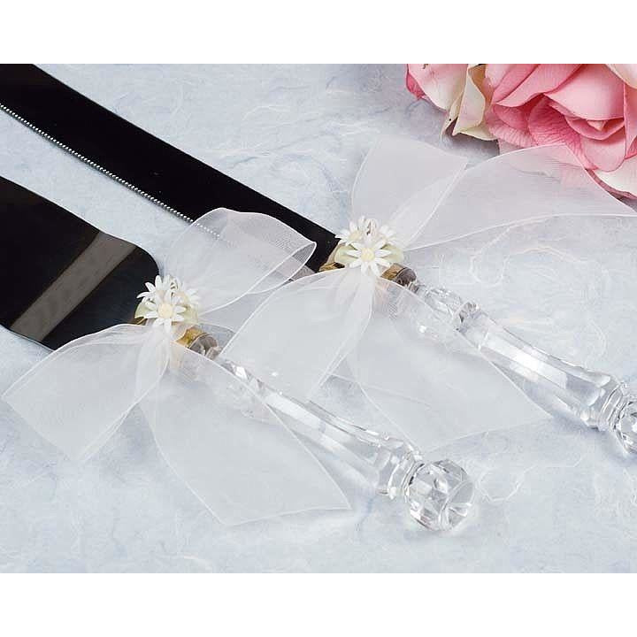 Daisy Bouquet Wedding Cake Server Set