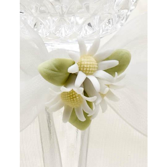 Daisy Bouquet Wedding Toasting Glasses