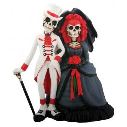 Day of the Dead Gothic Skulls Wedding Cake Topper