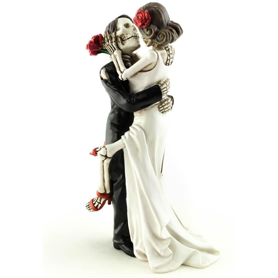 Day of the Dead Sexy Skulls Wedding Cake Topper