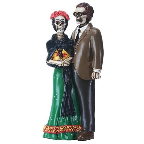 Day of the Dead Skulls Frida and Diego Wedding Cake Topper