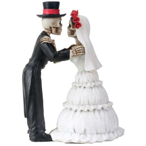 Day of the Dead Embracing Skulls Wedding Cake Topper