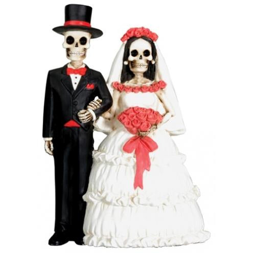 Day of the Dead Skulls Wedding Cake Topper