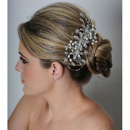 Dazzling Swarovski Crystal Bridal Comb- Royal Collection