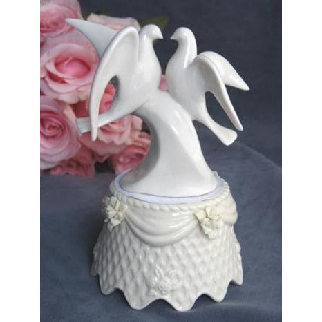 Dove Cake Topper With Porcelain Base