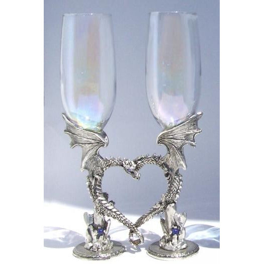 Dragon Heart Wedding Toasting Glasses Set