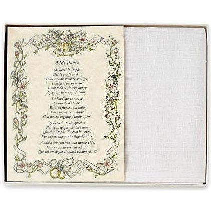 Personalized El Padre de la Novia Wedding Handkerchief in Spanish