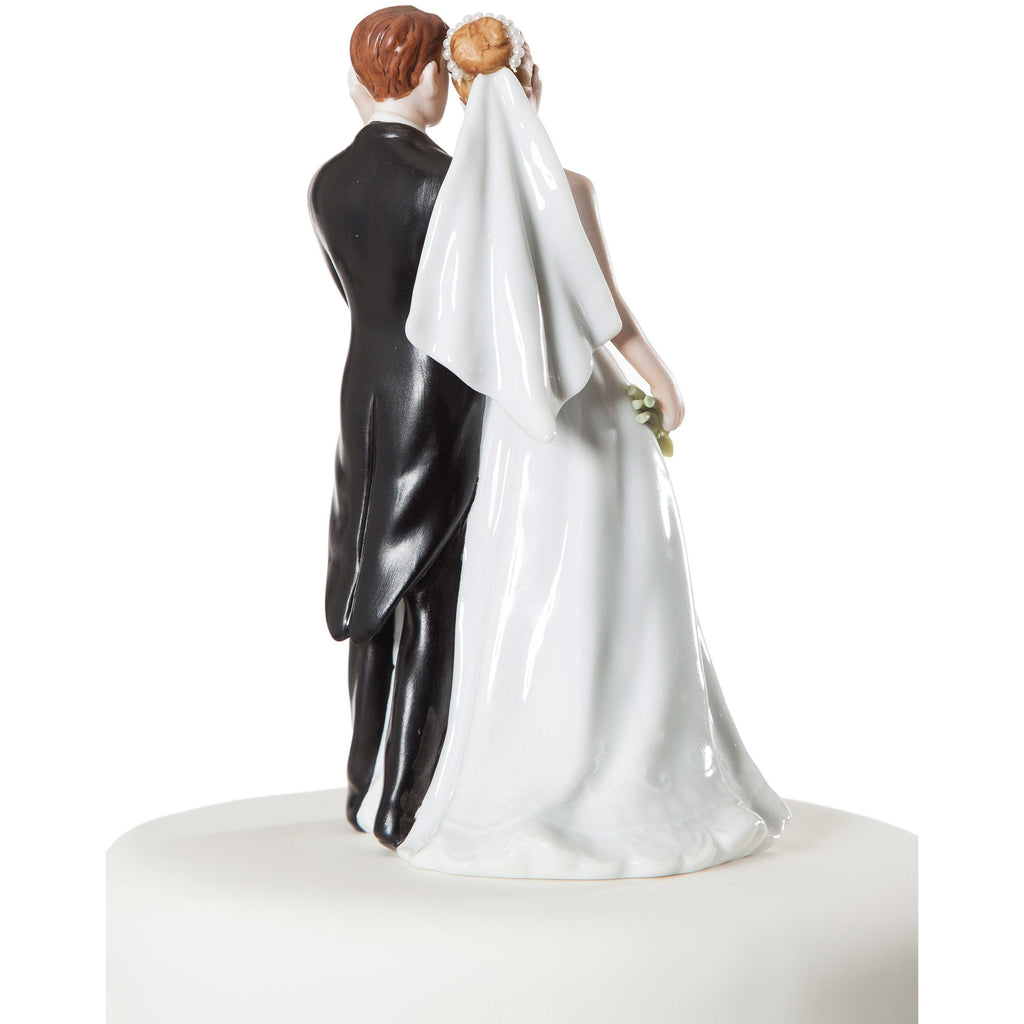 Elegant Calla Lily Bride and Groom Cake Topper