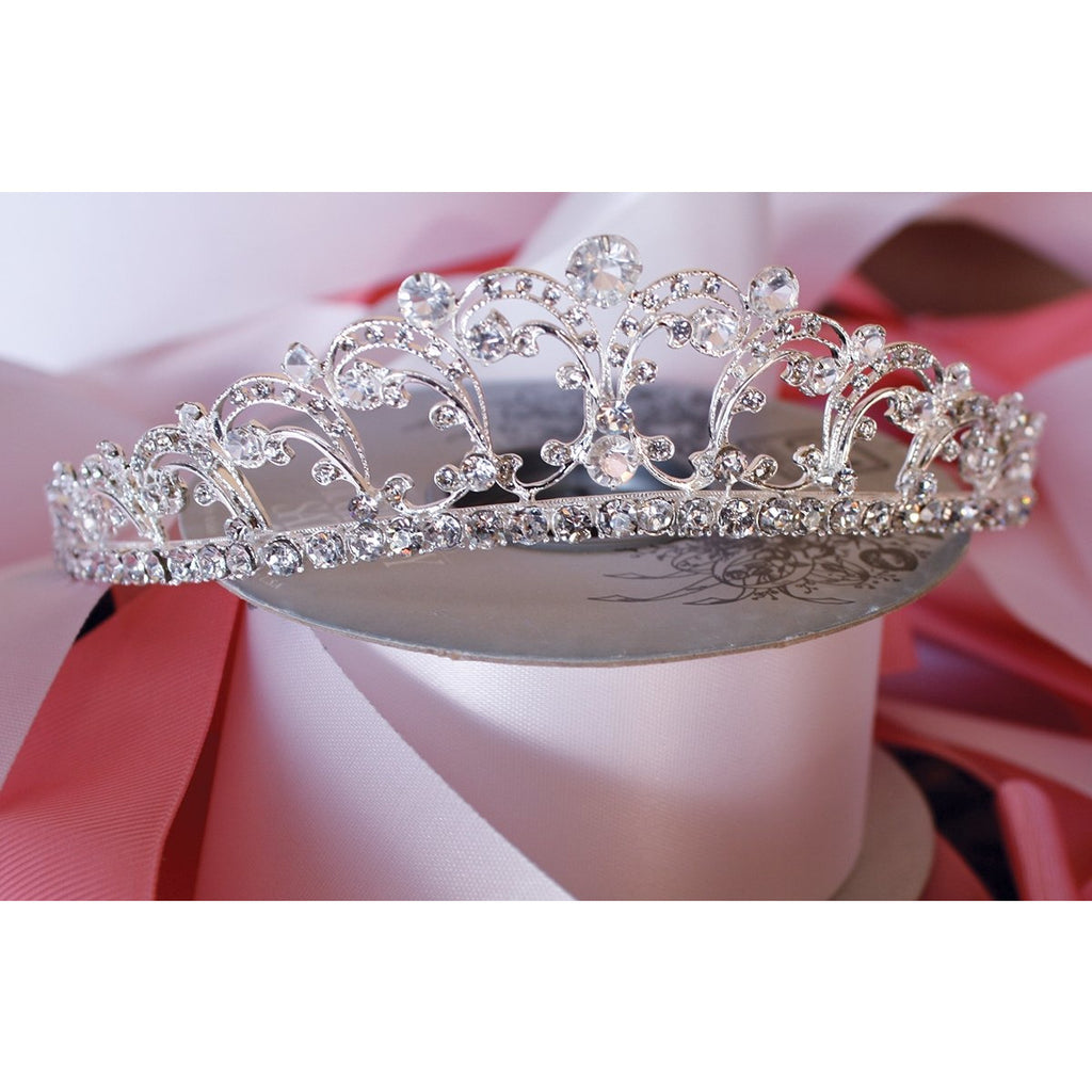Elegant Scroll Princess Tiara