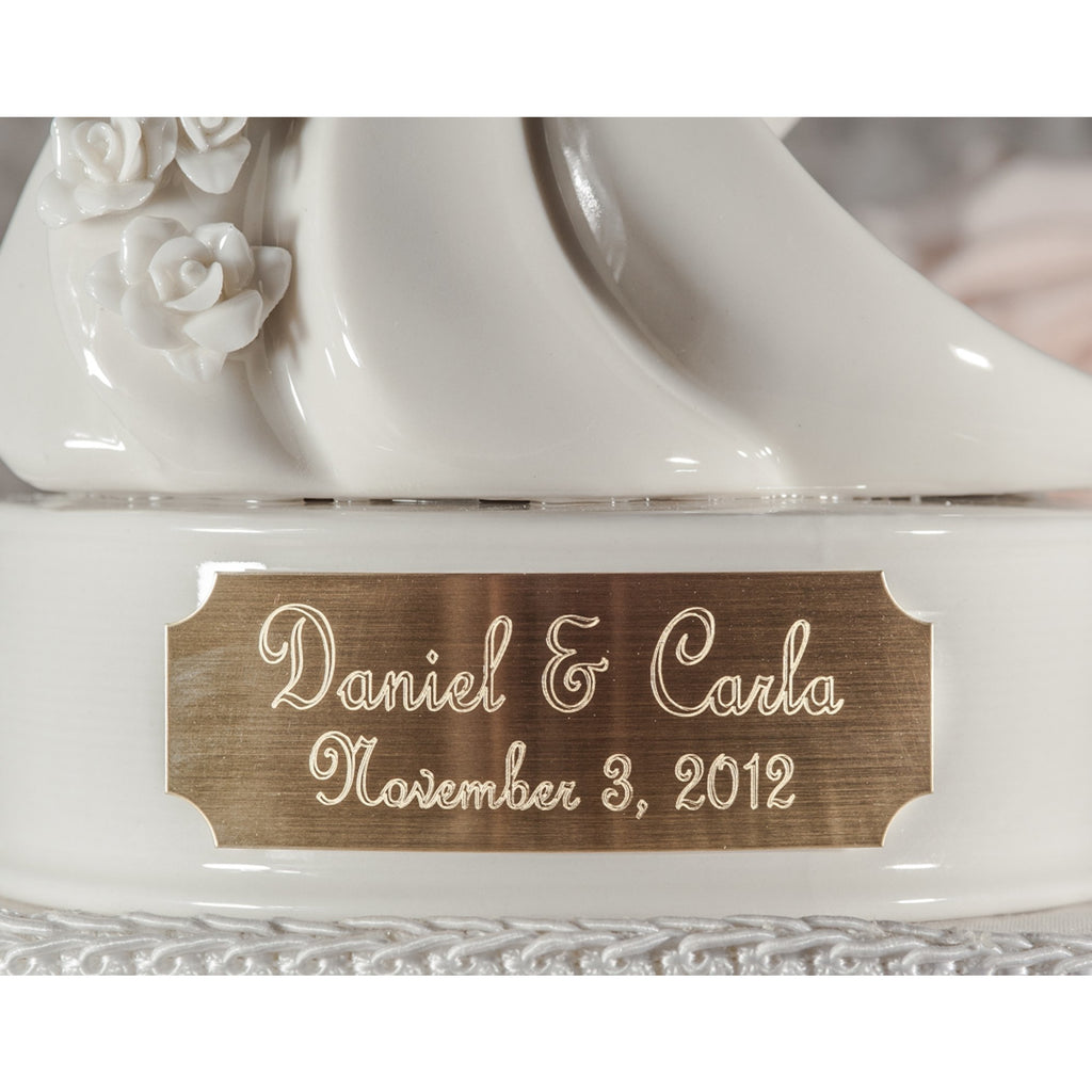 Engraveable Stylized Dancing Wedding Cake Topper
