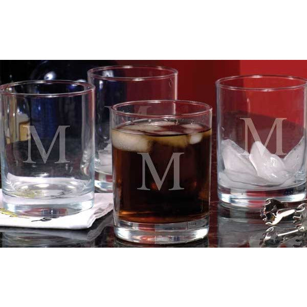 Etched Drinking Glasses (Set of 4)