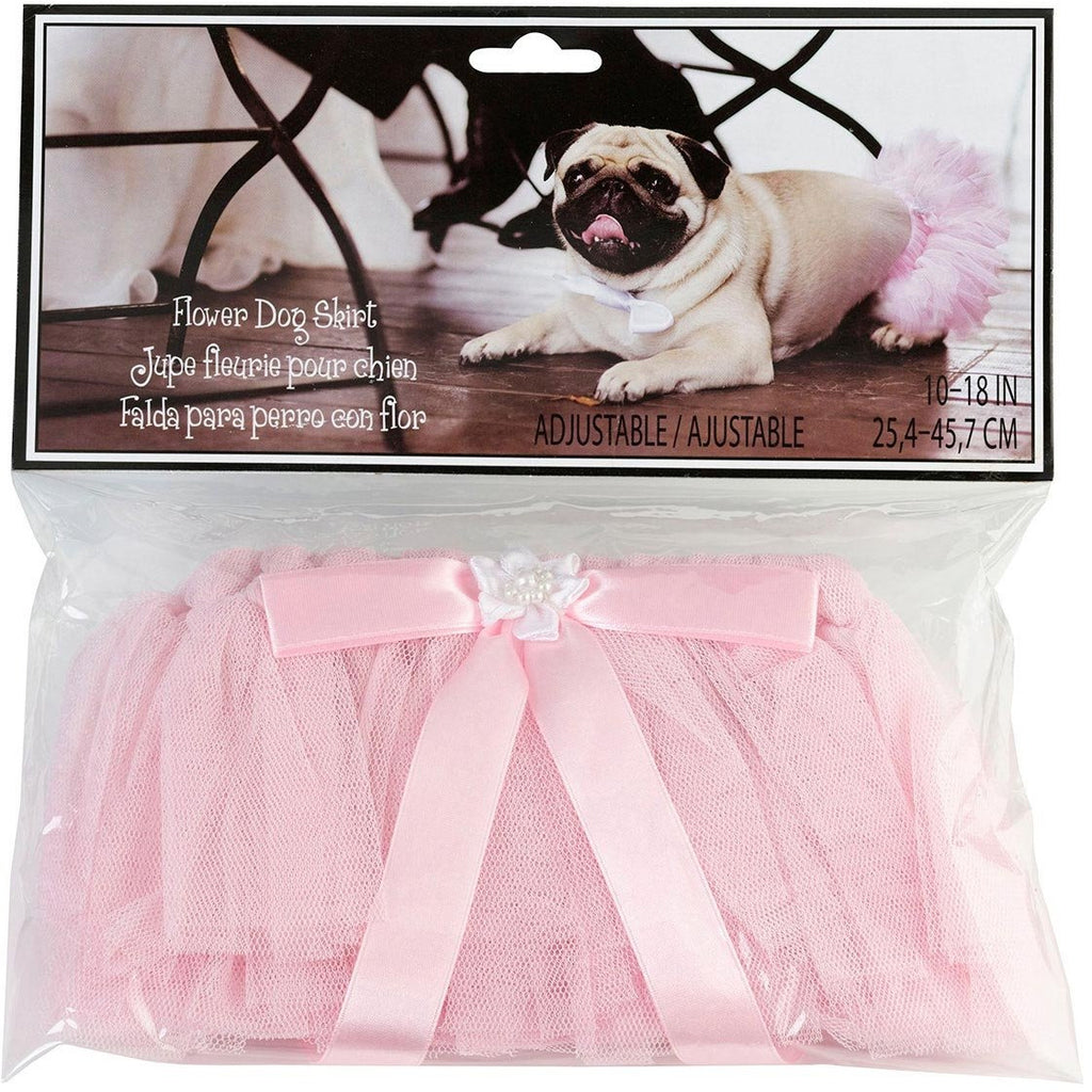 Flower Dog Skirt- Pink