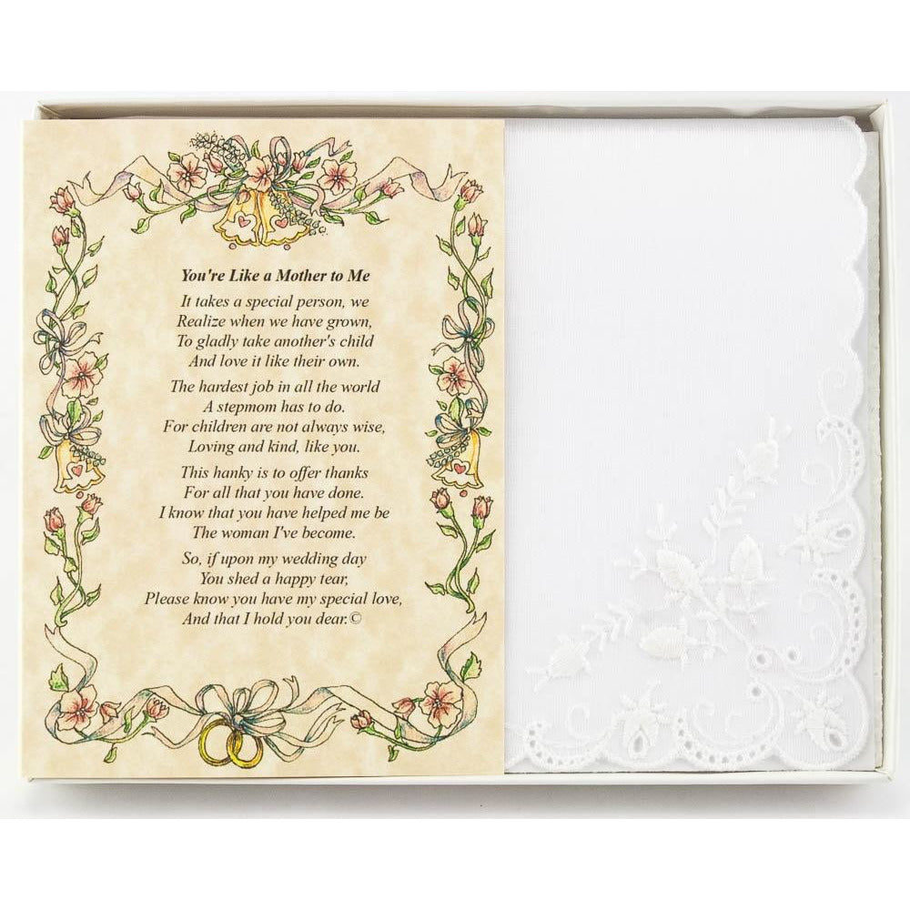 Personalized For Bride's Stepmother or Someone Dear Wedding Handkerchief