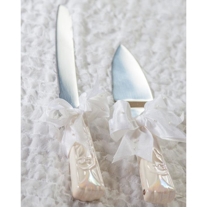 Foundations Wedding Cake Knife and Server Set