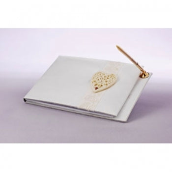 Foundations Wedding Guest Book and Pen