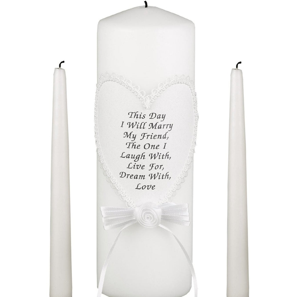 Friendship Unity Candle Set