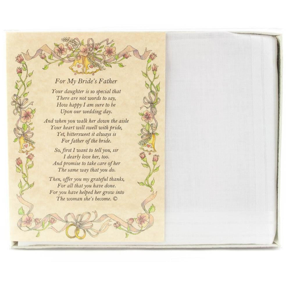 Personalized From the Groom to the Bride's Father Wedding Handkerchief