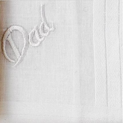 Personalized From the Bride to her Father Wedding Handkerchief