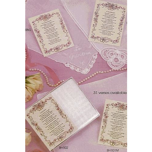 Personalized From the Bride to her Grandfather Wedding Handkerchief
