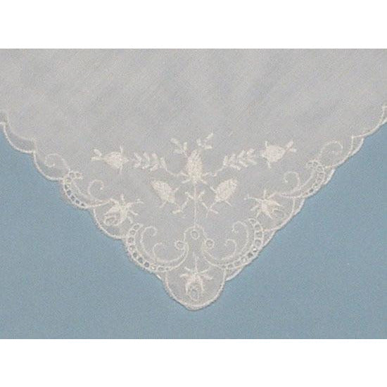 Personalized From the Bride to her Matron of Honor Wedding Handkerchief