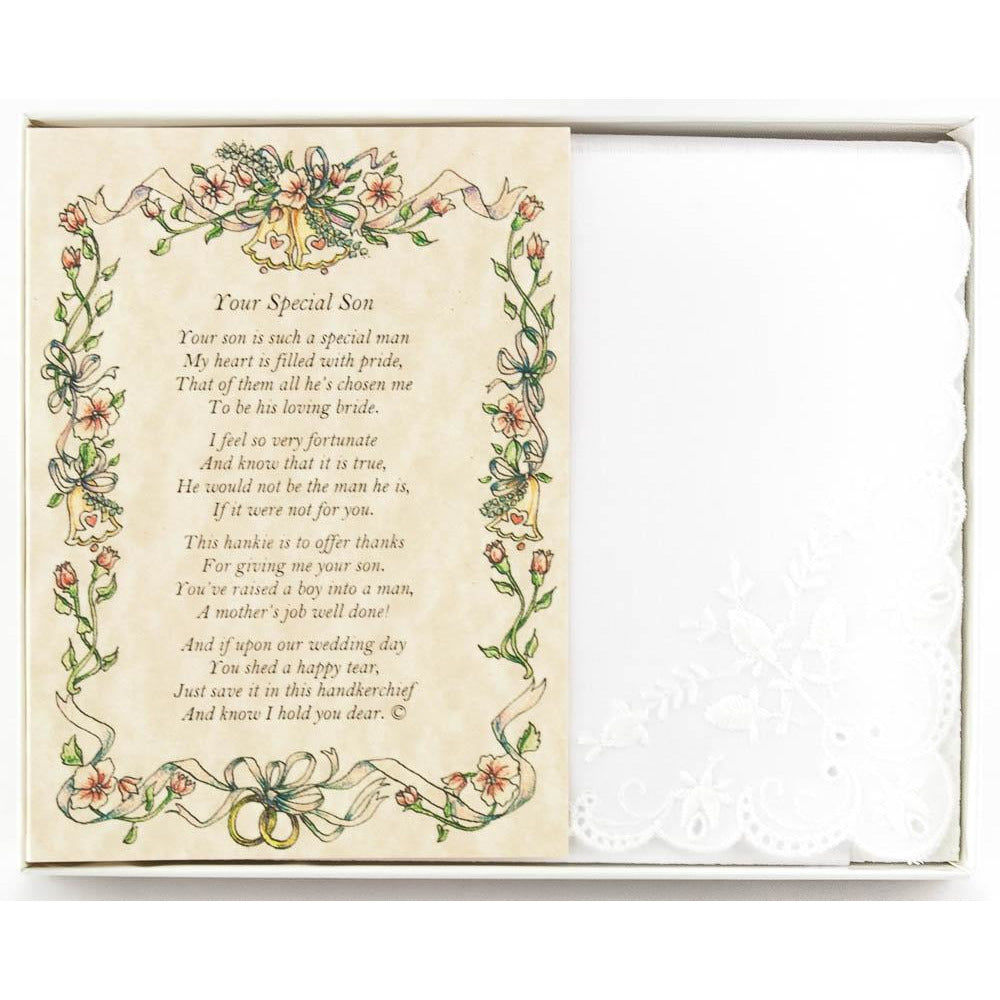 Personalized From the Bride to her Mother-in-Law Wedding Handkerchief