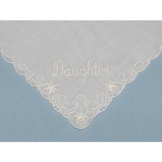 Personalized From the Father of the Bride to his Daughter Wedding Handkerchief