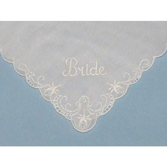 Personalized From the Groom to his Bride Wedding Handkerchief