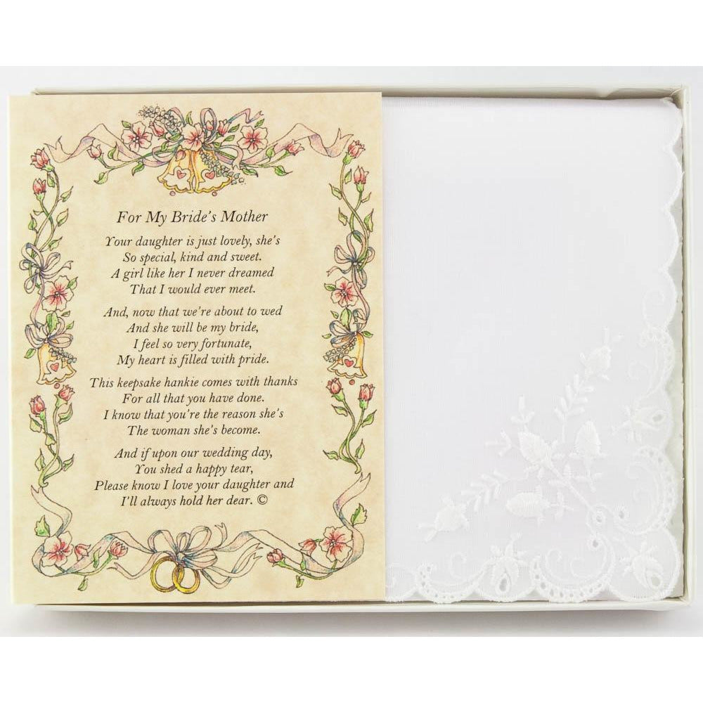 Personalized From the Groom to the Bride's Mother Wedding Handkerchief
