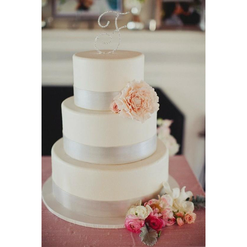 Monogram Halo Wedding Cake Topper