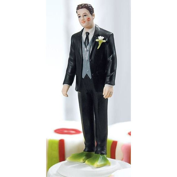 Funny Almost Perfect . . . Frog Prince Groom Wedding Cake Topper