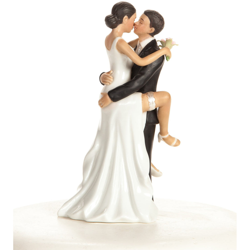 """Funny Sexy"" African American Wedding Bride and Groom Cake Topper Figurine"