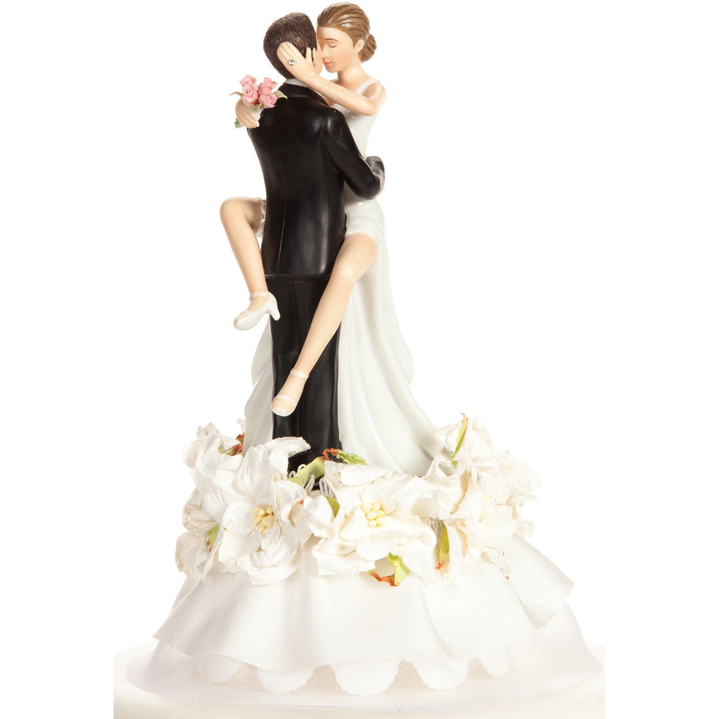 Funny Sexy Hawaiian Flower Beach Cake Topper