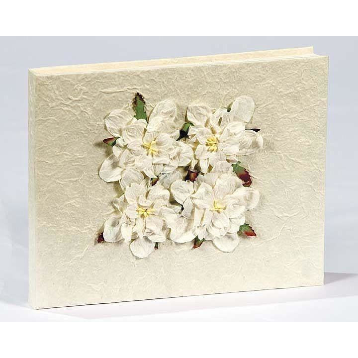 Gardenia Natural Paper Wedding Guestbook