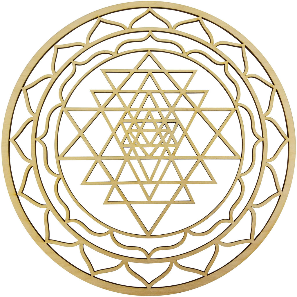 "Sri Yantra Hindu Tantra Chaka | 12"" Diameter - 1/8"" Thick 