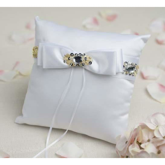 Glam Jeweled Wedding Ring Bearer Pillow