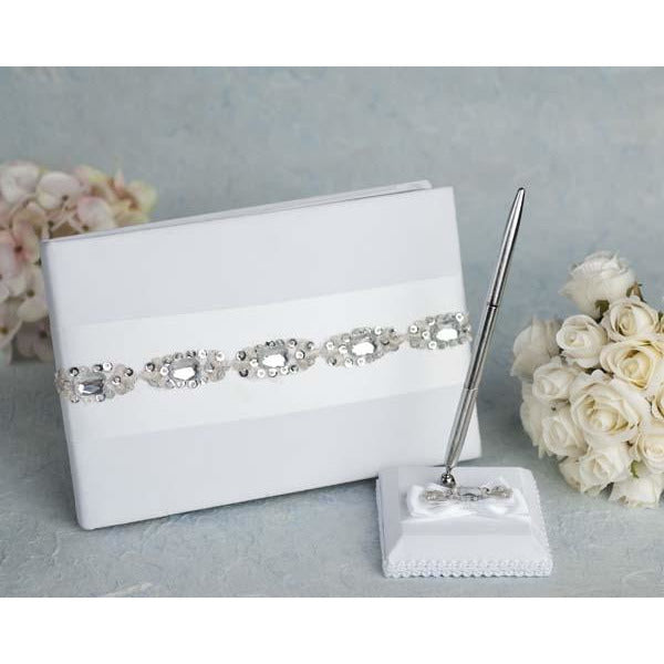 Glam Wedding Guestbook and Pen Set