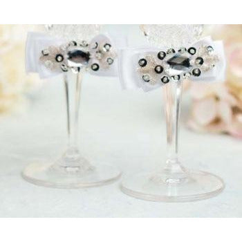 Glam Wedding Toasting Glasses