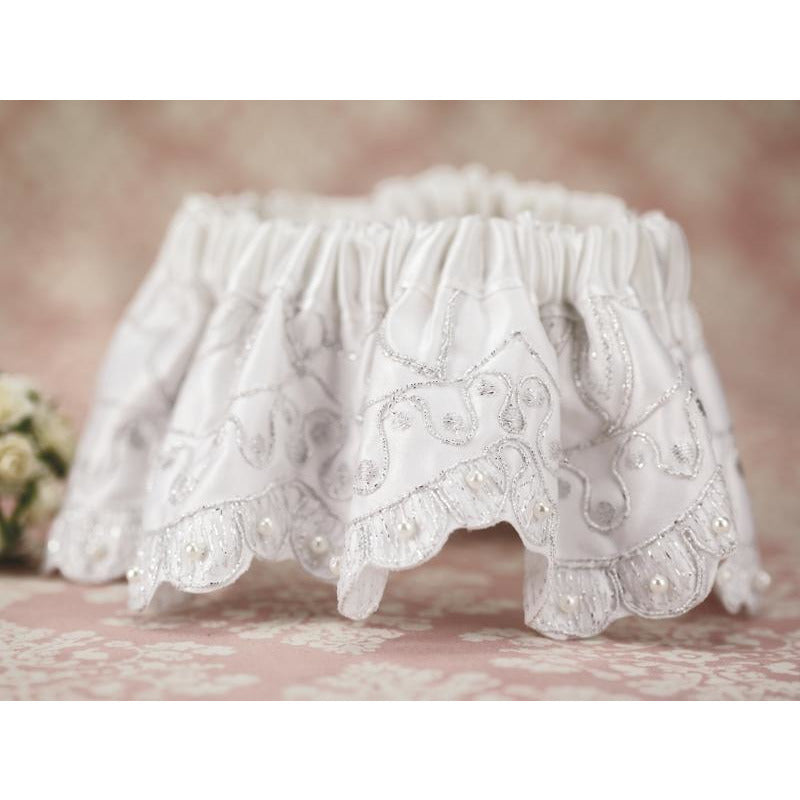Silver Embroidery Wedding Garter